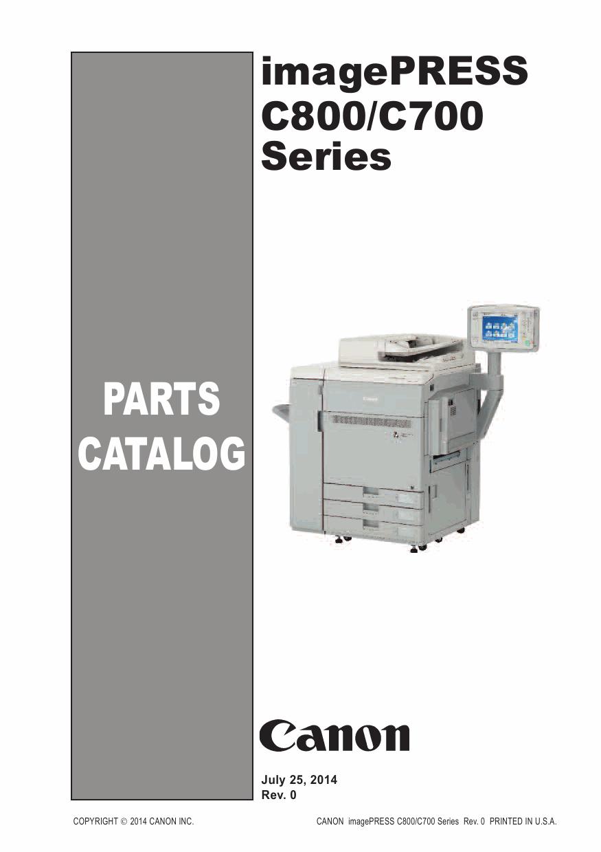 canon imagepress c800 c700 parts catalog manual hp printer service manuals free download hp 1020 printer service manual